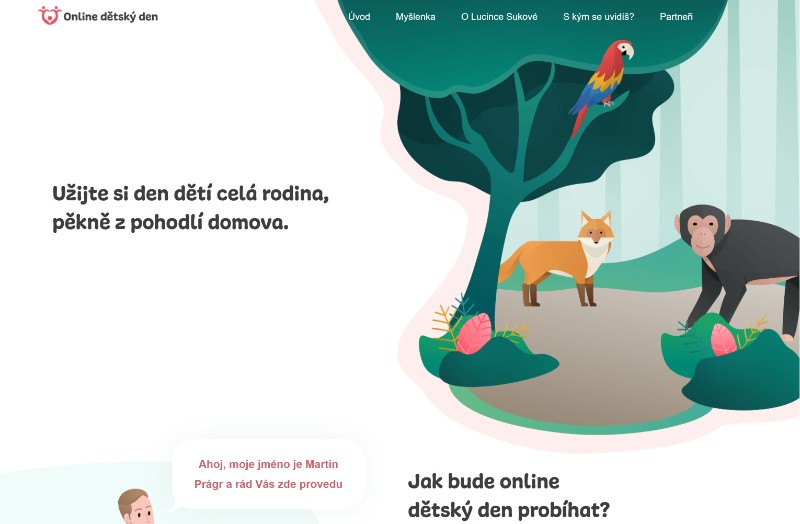 Online dětský den